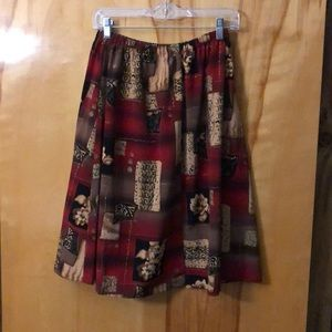 Women's Patterned  Skirt.